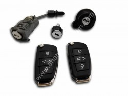 Audi - Audi A1 / S1 / Q3 LockSet (Original, 8X0 837 220 D)