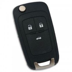 Chevrolet - Chevrolet 3 Button Flip Remote Key Witte