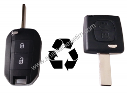 Citroen - Citroen 2 Buttons Modified Flip Key Shell