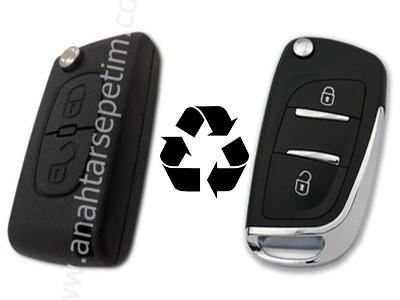 Citroen - Citroen 2 Buttons Modified Flip Key Shell