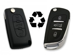 Citroen - CITROEN 3 Buttons Modified Flip Key Shell