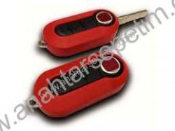 Fiat - Fiat Flip Remote Key (Delphi)(Red)
