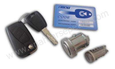 Fiat - Fiat Linea Lock Set (ID48 433 Mhz)