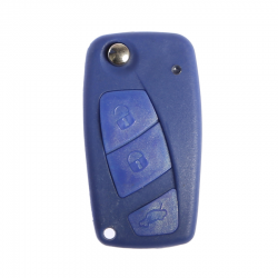 Fiat - Fiat Flip Key Shell 3 Buttons battery holder on the back Blue