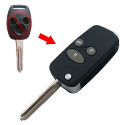 Honda - Honda 3 Buttons Modified Flip Key Shell