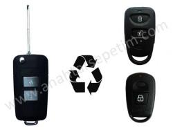 Hyundai - Hyundai 2 Buttons Modified Flip Key Shell