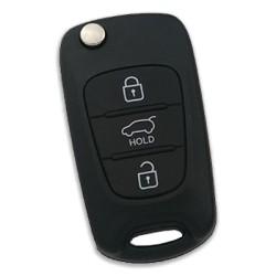 Hyundai - Hyundai i30 3 Buttons Flip Remote Key 2012+ (Original) (RKE-4F04, 433 MHz, ID60 80 Bit)