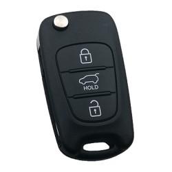 Hyundai - Hyundai IX20 3 Buttons Flip Remote Key (Original) (RKE-4A02, 433 MHz, ID60 80 Bit)