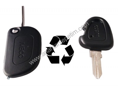 Iveco - Iveco 1 Buttons Modified Flip Key Shell