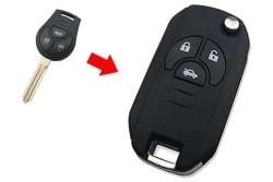 Nissan - Nissan Juke 3 Buttons Modified Flip Key Shell