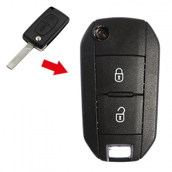Peugeot - Peugeot 2 Buttons Modified Flip Key Shell