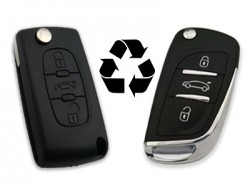 Peugeot - PEUGEOT 3 Buttons Modified Flip Key Shell