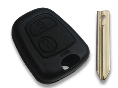 Peugeot - Peugeot Key Shell 2 button for Simplex blade (China)