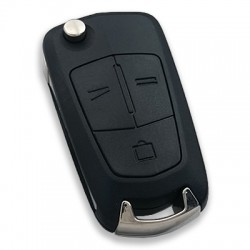Opel - Opel Vectra-C 3 Button Flip Remote Key (AfterMarket) (GM 93187508, 433 MHz, ID46)