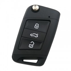 Volkswagen - Volkswagen Golf 7 3 Buttons Key Shell