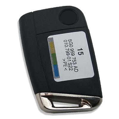 Volkswagen Golf7 3 Buttons Remote Flip Key Kessy (Original) (5G0 959 753 AE 315 MHz, ID48)