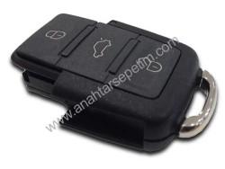 Volkswagen - Volkswagen 3+Panic Button Flip Remote Key