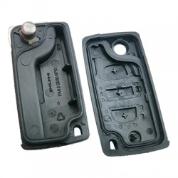 Peugeot Flip Remote Shell 3 Button without battery location - Thumbnail