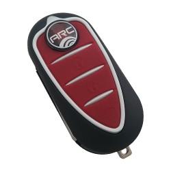 Alfa Romeo - Alfa Romeo Giulietta 3 Button Flip Remote Key (Magneti-Marelli, Giulietta) (AfterMarket) (433 MHz, PCF7946)