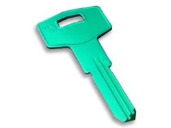Silca - ALIMUNYIUM Key Blank Green