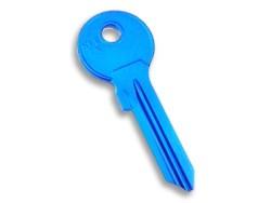 Silca - Aluminium Key Blank Blue
