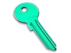 Silca - Aluminium Key Blank Green