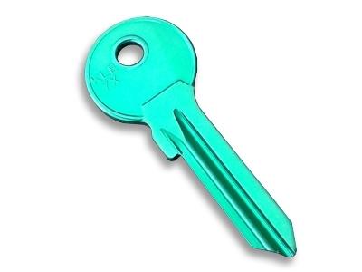 Aluminium Key Blank Green