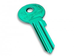 Aluminium Key Blank Green - Thumbnail