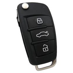 Audi - Audi A3 Flip Remote Key (Original) (8V0 837 220, 433 MHz, ID48)