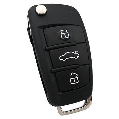 Audi A3 Flip Remote Key (Original) (8V0 837 220, 433 MHz, AES)