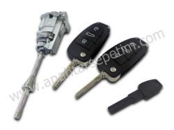 Audi - Audi Q7 AG LockSet (Original, 433 Mhz, ID8E, 4F0 837 220 T )