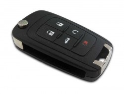Chevrolet - Chevrolet 5 Button Flip Remote Key (AfterMarket) (315 MHz, ID46)