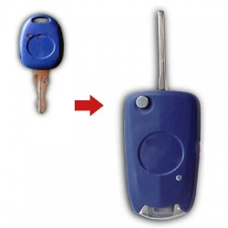 Fiat - Fiat 1 Button Modified Flip Key Shell