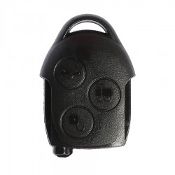 Ford - Ford Transit Connect Key Shell 3 Button Black, Logo Hole