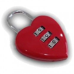 Renault - Free 3 Digit Combination Heart Padlock for Shopping more over 200 USD