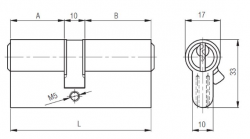 Kale Cylinder 68 mm 164GNC - Thumbnail