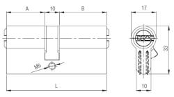 Kale Cylinder 68 mm 164SNC - Thumbnail