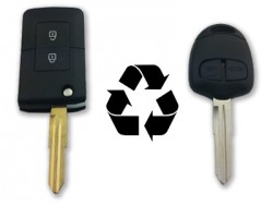 Mitsubishi - Mitsubishi 2 Buttons Modified Flip Key Shell