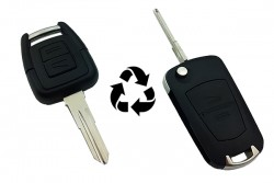 Opel - Opel Astra-G Modified Flip Key Shell