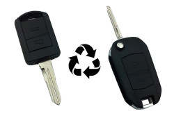 Opel - Opel Corsa 2 Buttons S profile modified flip key shell