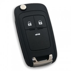 Opel - Opel Insignia 3 Button Flip Remote Key (Original) (GM 13584834, 433 MHz, ID46)
