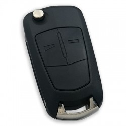 Opel - Opel Vectra C 2 Button Flip Remote Key (AfterMarket) (GM 13189118, 433 MHz, ID46)