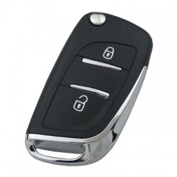Peugeot - PEUGEOT Modified Key Shell 2 Buttons without battery location