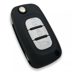 Renault - Renault 3 Buttons Flip Remote (AfterMarket) (433 MHz, PCF7947)
