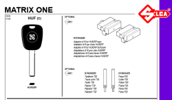 Silca Matrix HU92RP A16 VAG adapter - Thumbnail