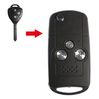 Toyota 3 Buttons Modified Flip Key Shell