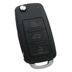Volkswagen - Volkswagen Touareg, Phaeton 3 Button Flip Remote Key (AfterMarket) (433 MHz, ID46)